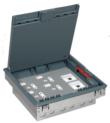 Floor Box For Carpet   3 Compartment (Grey)